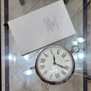 Pottery barn clock and five minute journal